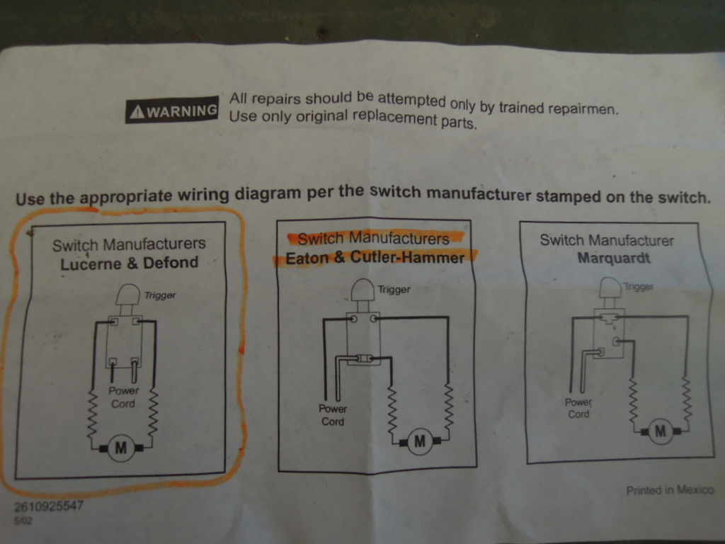 Table Saw Motor Wire Diagram Delta Wiring 120v Switch Image Skil Discover Your